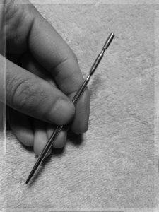 少し長い手作りてい鍼