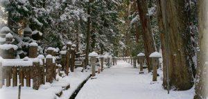 高野山 雪化粧