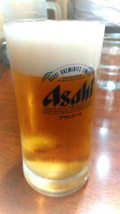 ビールはアサヒでした