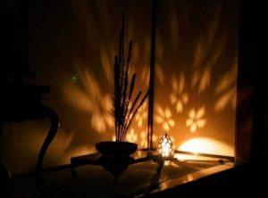 夜のお寺を散策