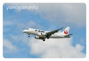 千里川土手からの飛行機の写真