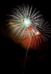 カメラを新調、吉野川祭の花火(120)