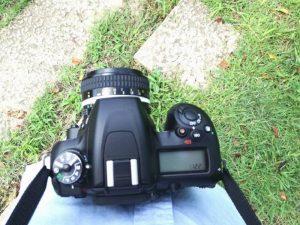 カメラを持った写真