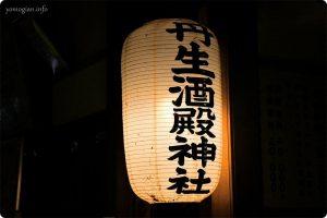 丹生酒殿神社の大銀杏のライトアップ