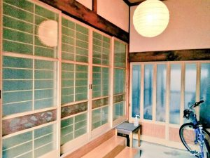 蓬庵の入口 橋本市の鍼灸院