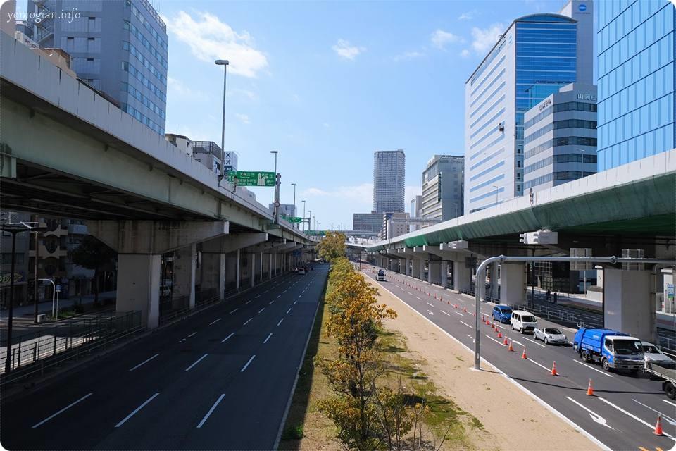 阿波座の道道
