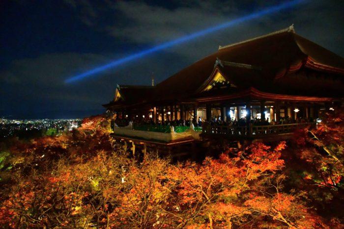 清水寺ライトアップの写真
