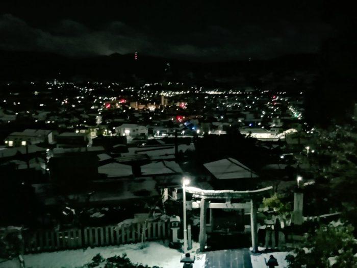 高野口 夜景 高野口八幡神社