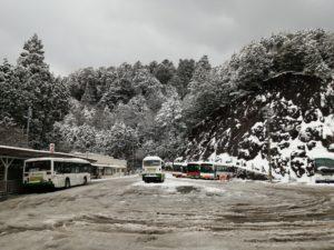高野山駅 雪景色