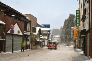 高野山 雪景色 山内