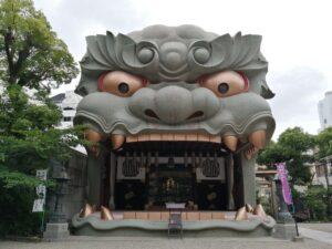 難波八阪神社にもよりました。難波駅の周辺で神社といえばココ!