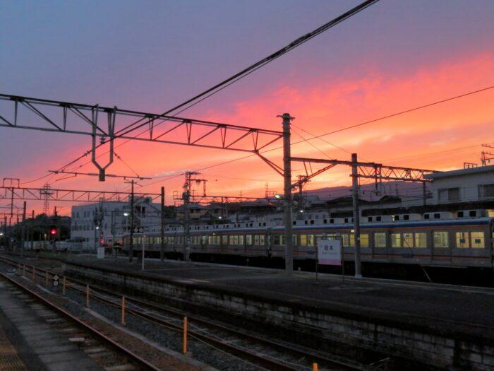 橋本駅 夕焼け
